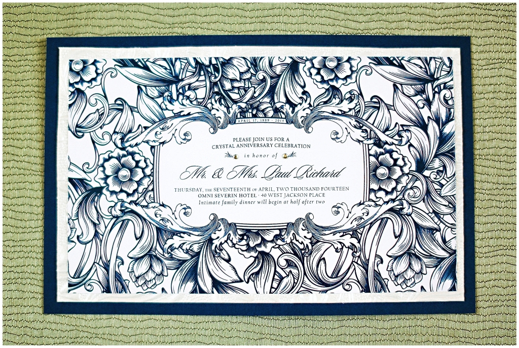 Navy Blue Invitation