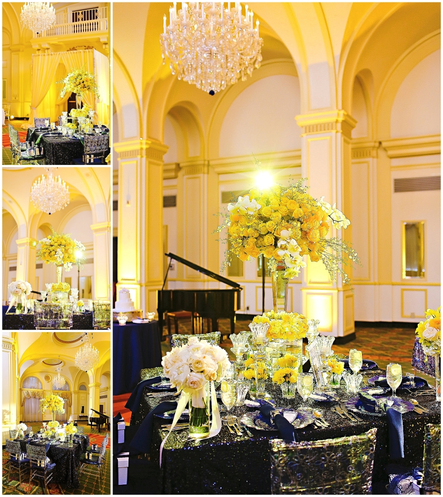 Yellow and Navy Wedding