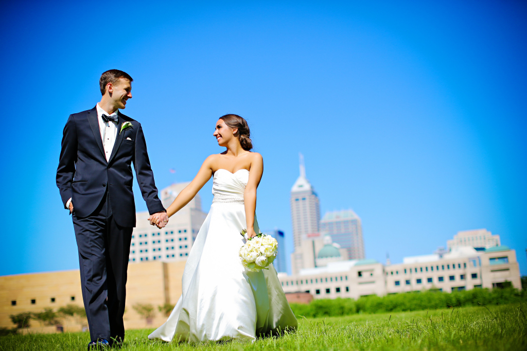 Sara and Curtis Modern Indy Wedding