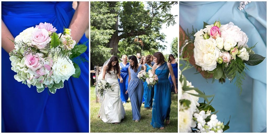 Bridemaids Blue Tones