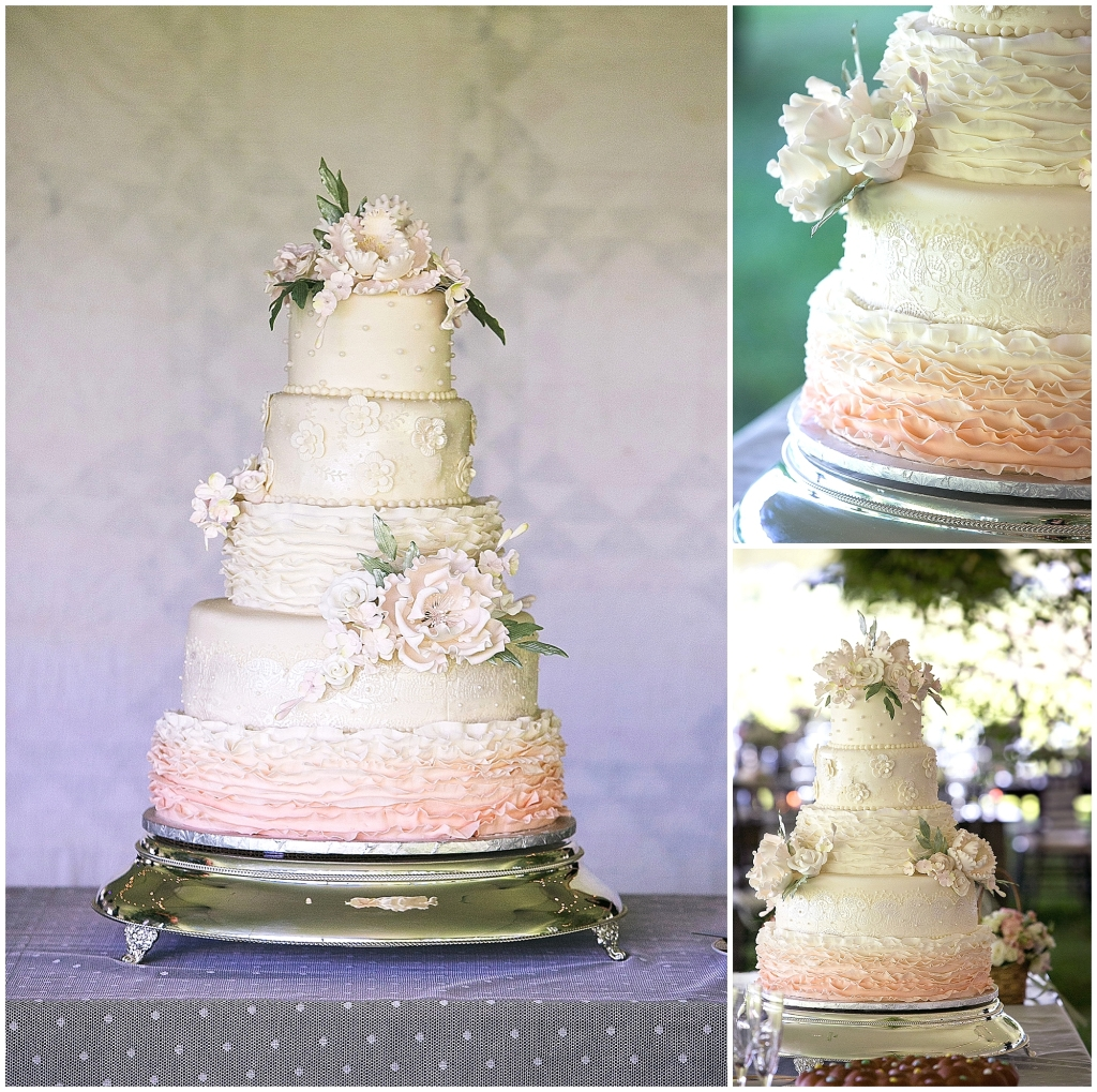 Ivory and Blush Wedding Cake