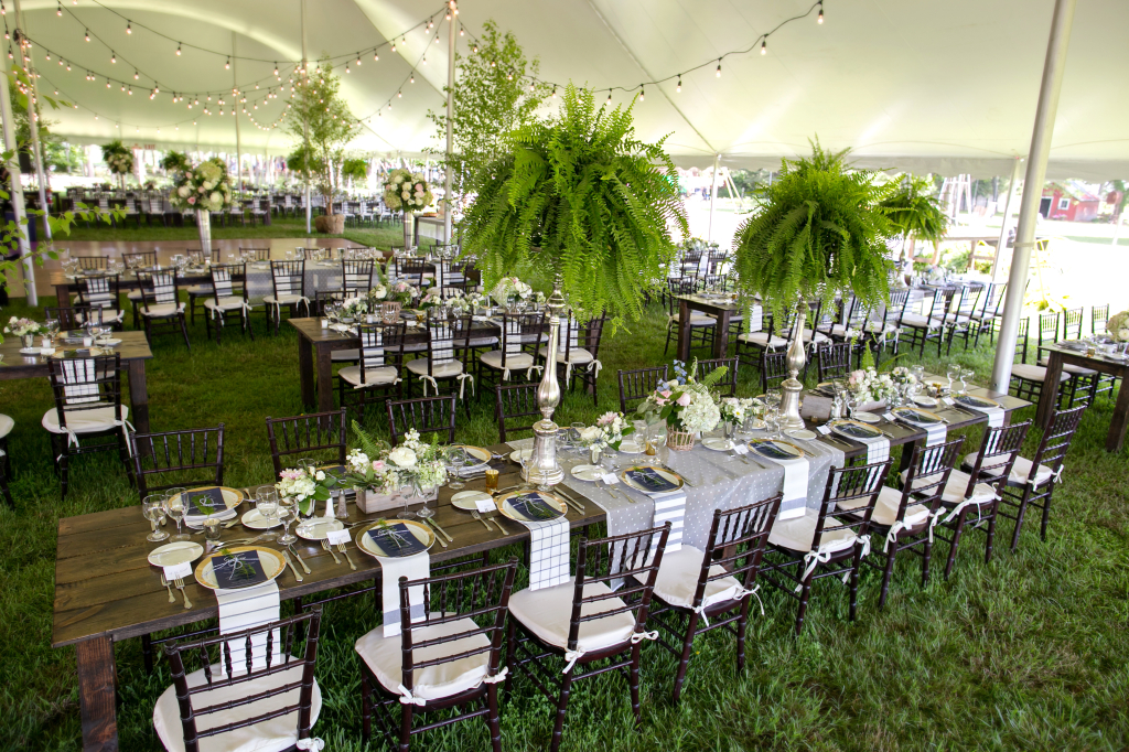 Fern wedding tent
