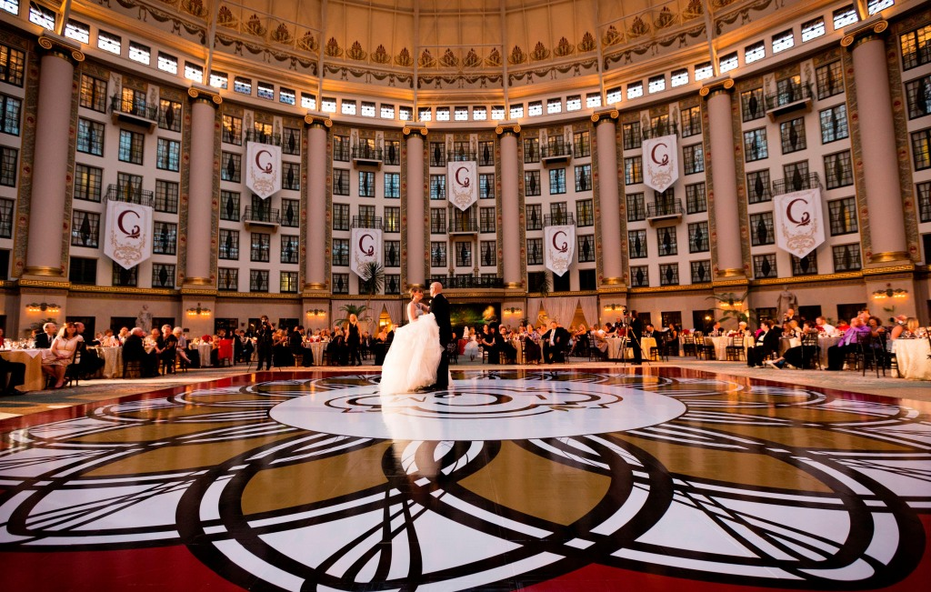 Dancing West Baden Spring Hotel Atrium Wedding