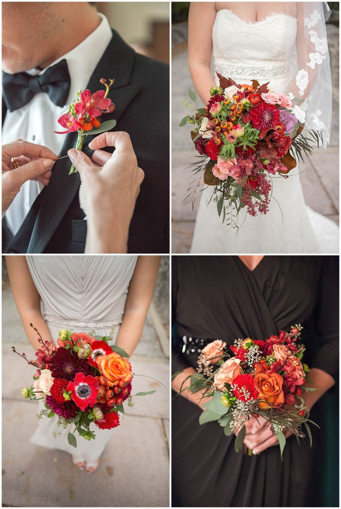 Fall Bridal Party Flowers