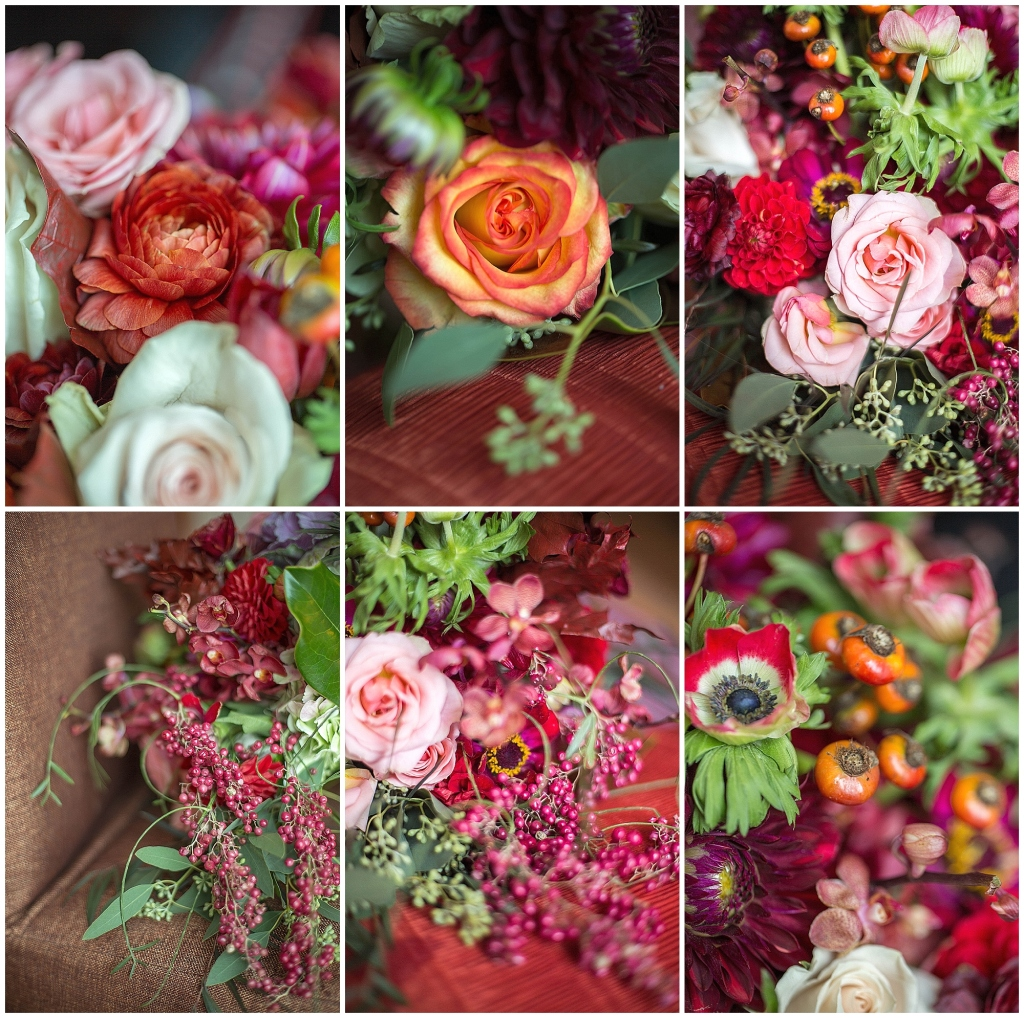 Fall Bridal Bouquet Close Up