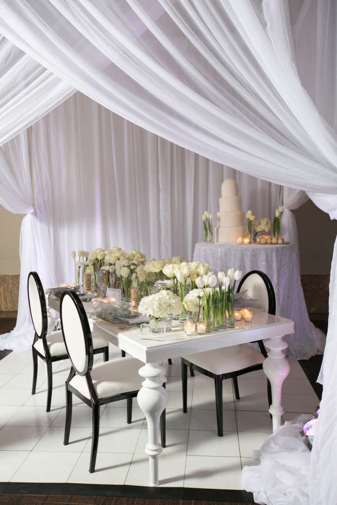 Art of the Table White Wedding Design