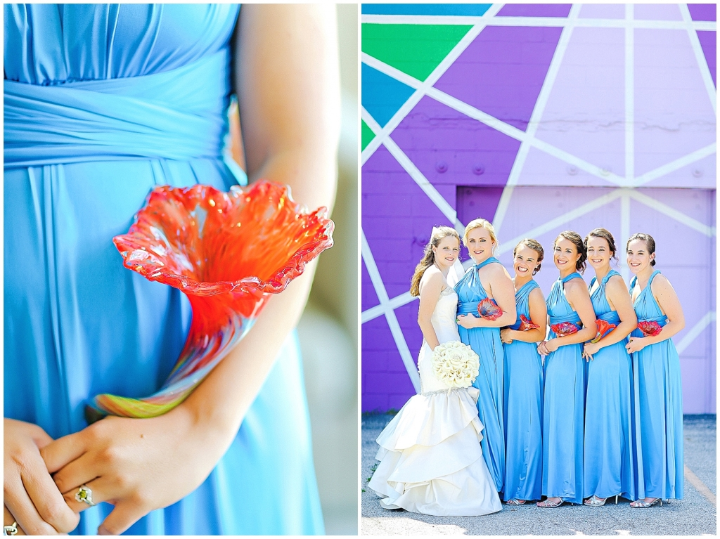 Fire and Ice Wedding Bouuets - Glass Bouquets