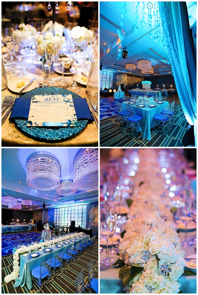 Fire and Ice Wedding Blue Colors