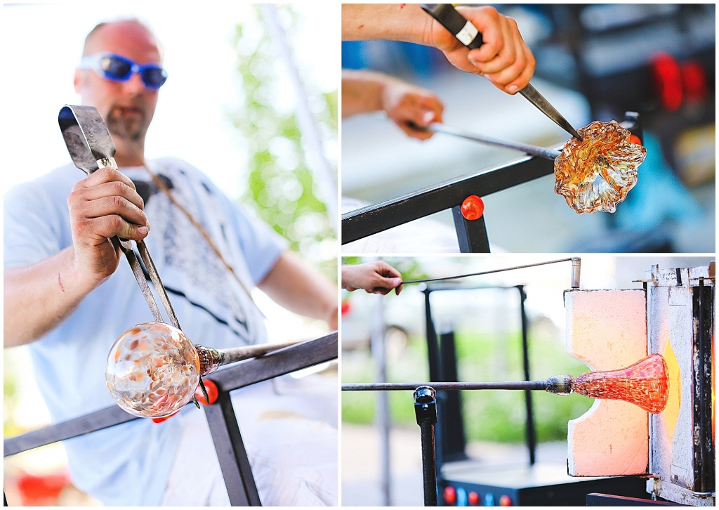 Fire and Ice Wedding Glass Blower