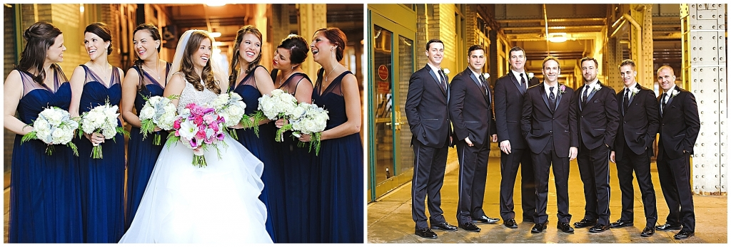 Wedding Party Navy Gowns