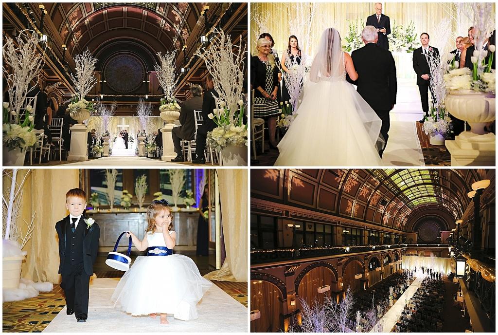 Ceremony Collage Winter Wedding