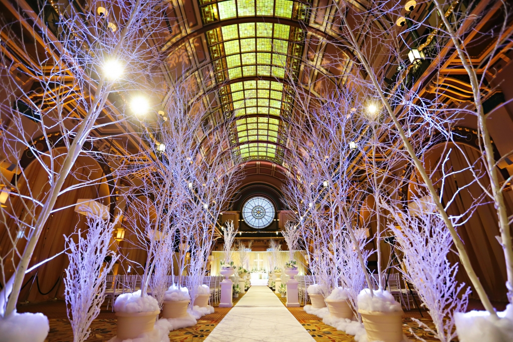 Winter Wonderland Wedding Ceremony