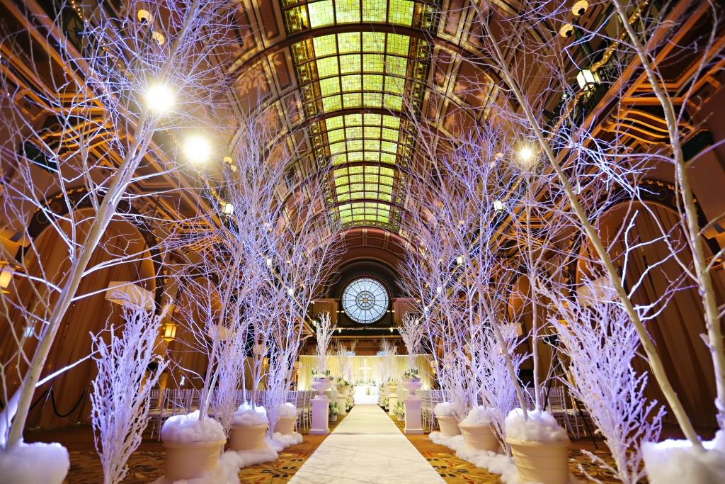 Winter Wonderland Wedding Ceremony